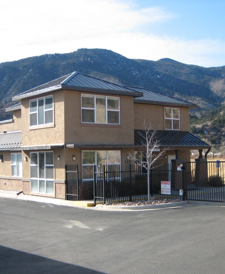 The exterior of StorQuest Self Storage in Manitou Springs, Colorado