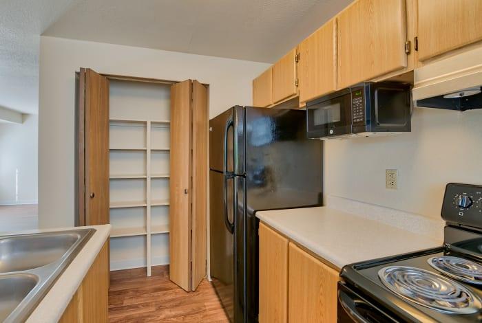 Model kitchen at Arbor Square Apartments in Olympia, Washington