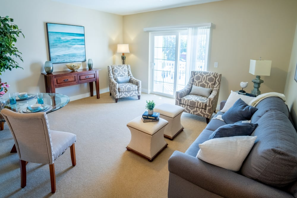 Living room at Harmony at West Ashley in Charleston, South Carolina