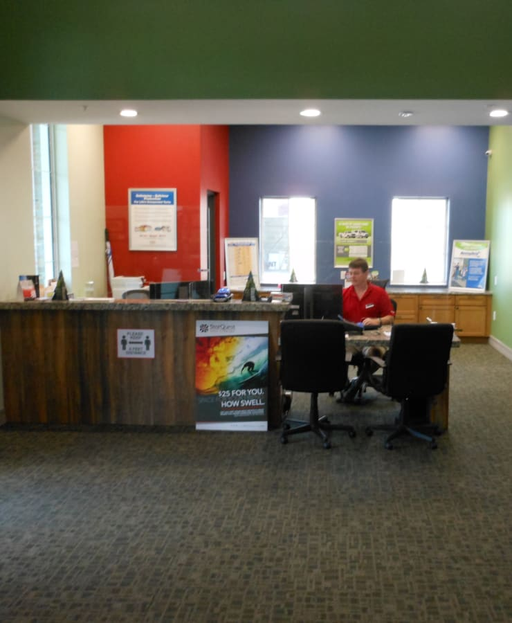 Interior of the leasing office at StorQuest Self Storage in Venice, Florida