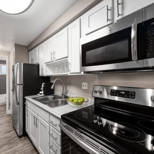 Stainless-steel appliances at Southglenn Place in Centennial, Colorado
