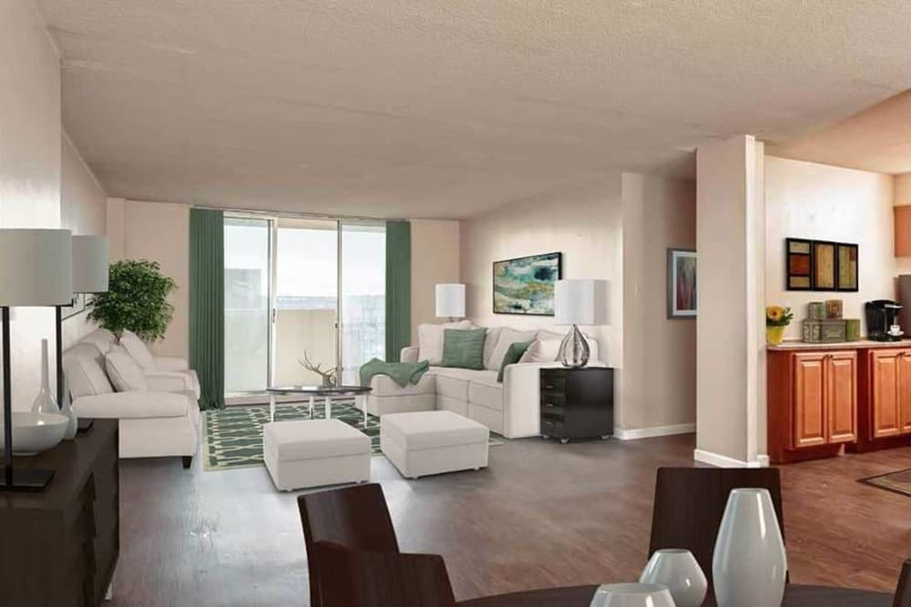 Ample living space at Towers on the Hudson in Troy, New York