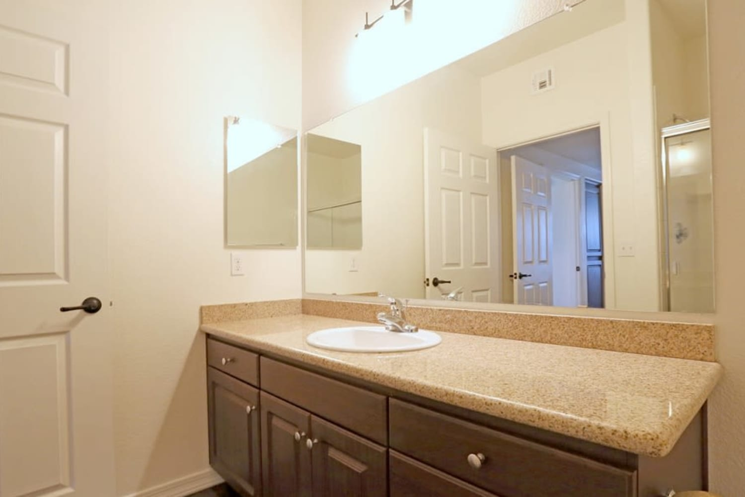 Bathroom with ample counter space at San Marquis in Tempe, Arizona