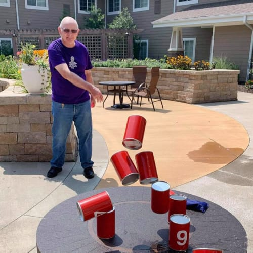 Resident fun at The Oxford Grand Assisted Living & Memory Care in Kansas City, Missouri