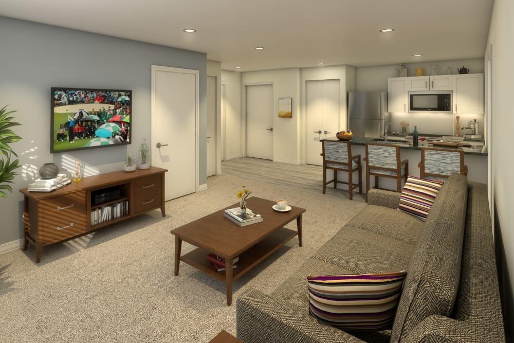 A spacious resident apartment at Anthology of Olathe in Olathe, Kansas
