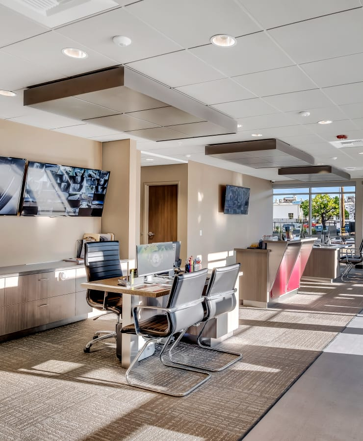 Interior of the leasing office at StorQuest Self Storage in Hawthorne, California