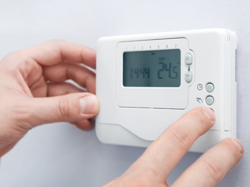 Thermostat for indoor climate-controlled units at 603 Storage - Hudson in Hudson, New Hampshire