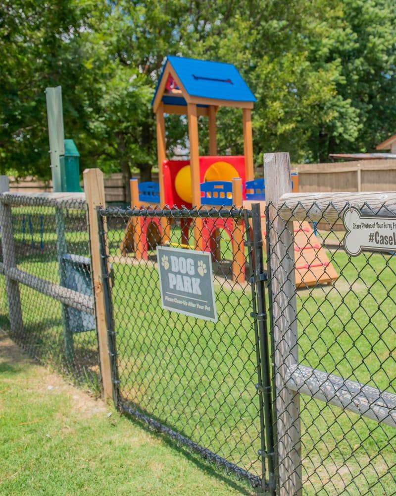 Dog park at Villas at Aspen Park in Broken Arrow, Oklahoma