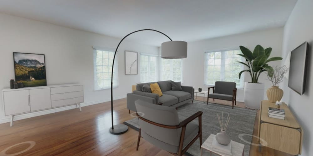 View a virtual tour of our bungalow apartments at Sunset Barrington Gardens in Los Angeles, California