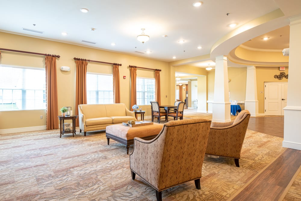 Lobby at Harmony at Hope Mills in Fayetteville, North Carolina