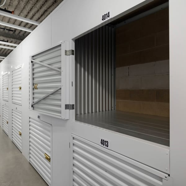 Small indoor units at StorQuest Self Storage in Paramount, California
