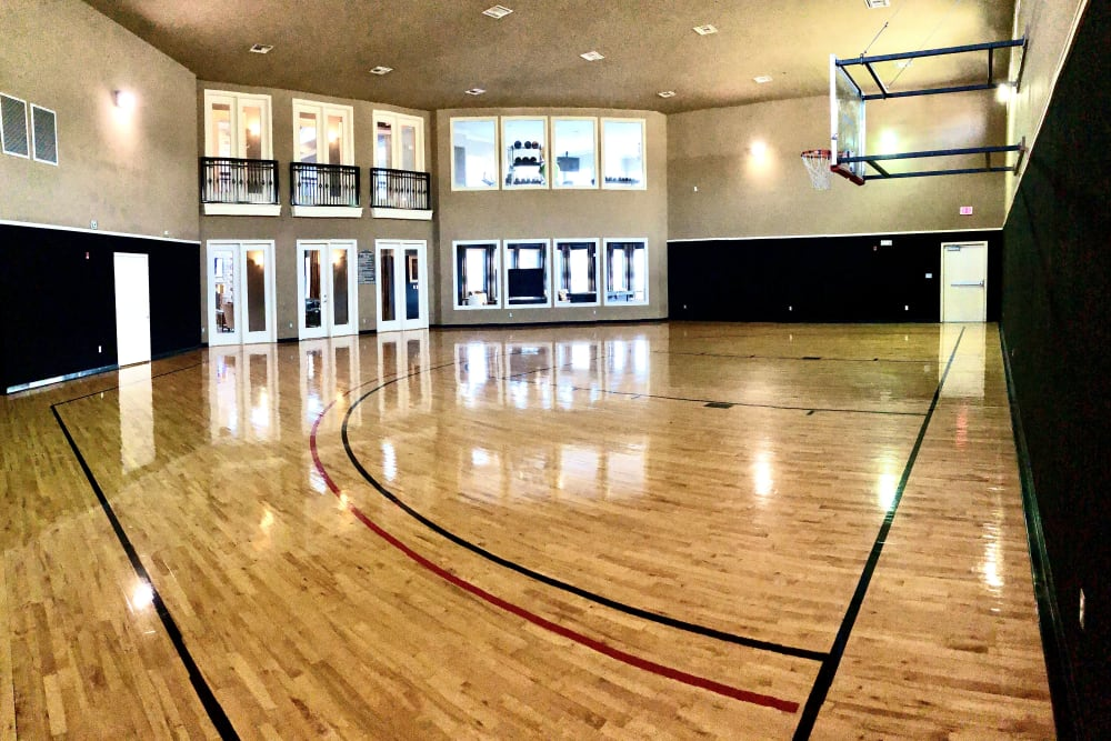 Basketball court at The Abbey on Lake Wyndemere in The Woodlands, TX