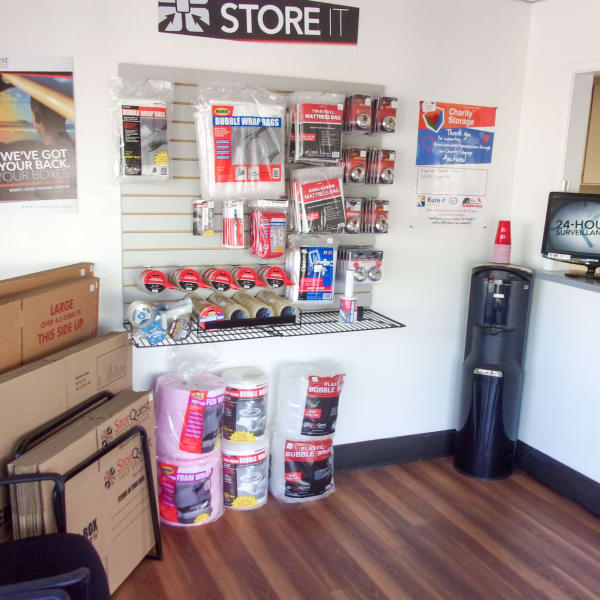Packing supplies sold at StorQuest Self Storage in Los Banos, California
