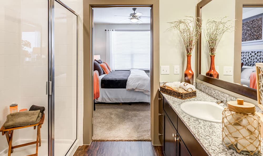 GreenVue Apartments offers a bathroom in Richardson, Texas