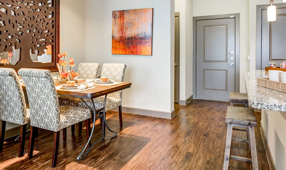 Beautiful dining room at apartments in Richardson, Texas