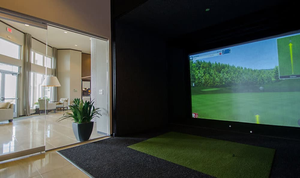 Modern recreation area at GreenVue Apartments in Richardson, Texas