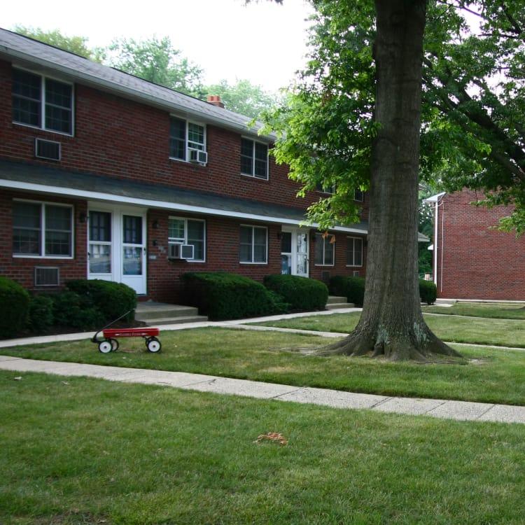 Walking paths at Brookview Manor Apartments