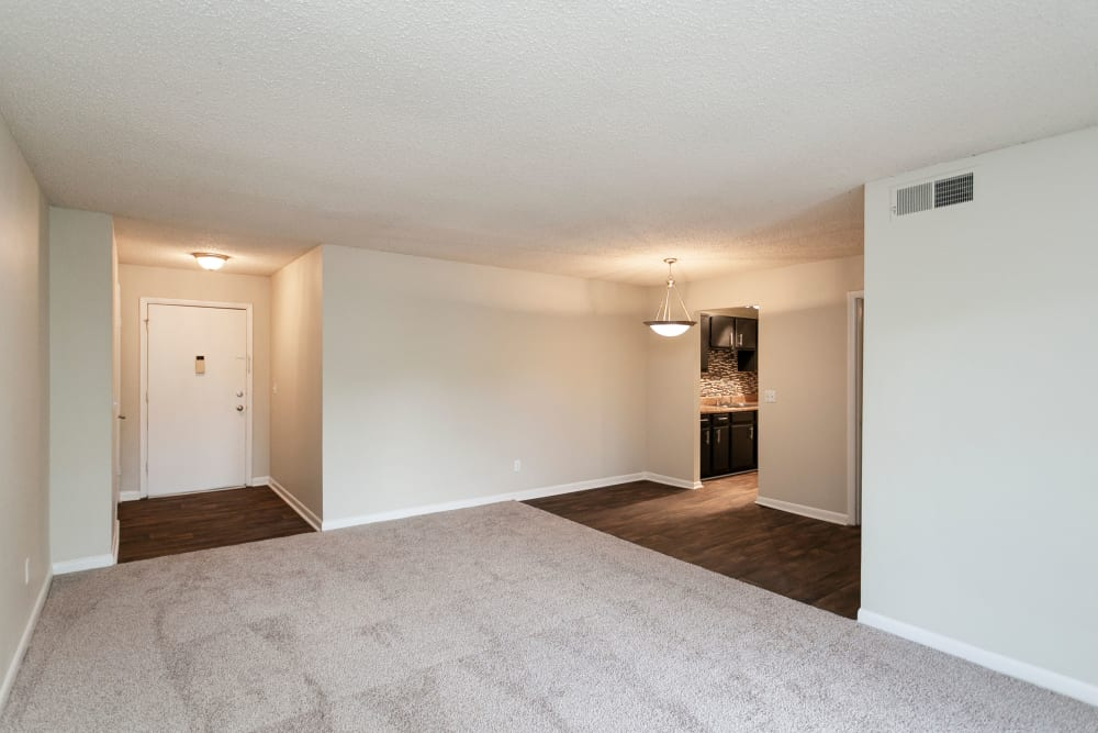 Open space in model at Candlewood Apartments in Nashville, Tennessee
