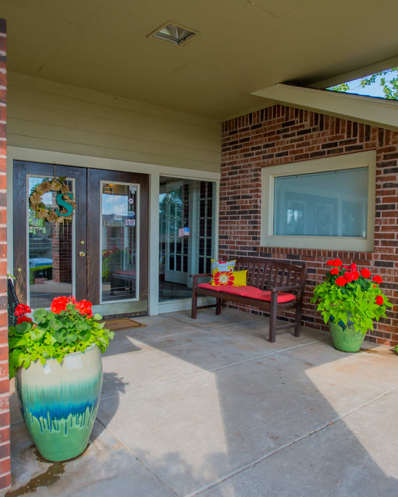 Entrance to the clubhouse at Summerfield Place Apartments in Oklahoma City, Oklahoma