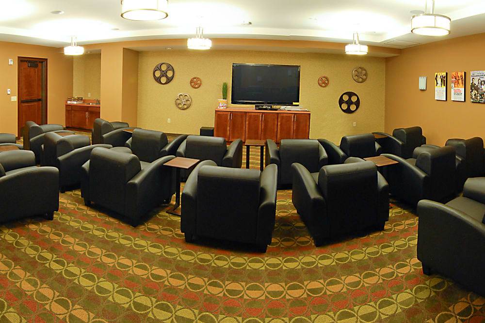 A comfy theater at The Glenn Minnetonka