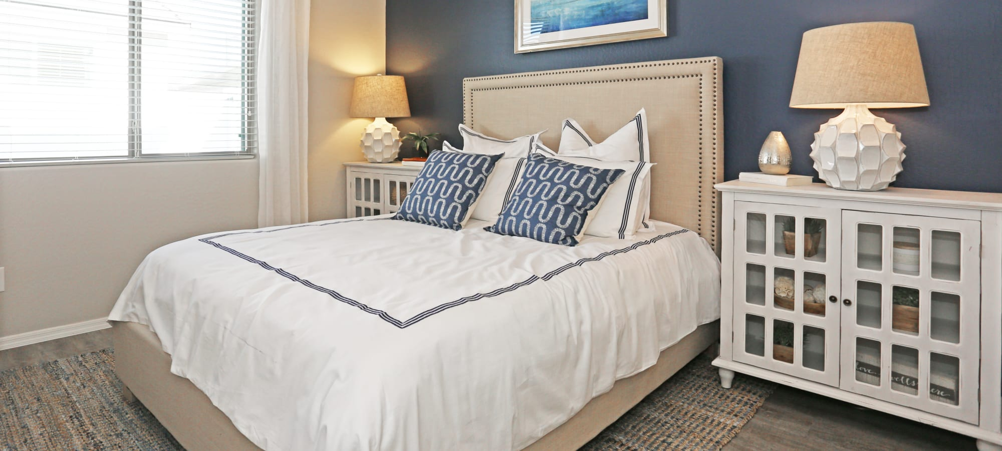 Luxury bedroom at Christopher Todd Communities At Stadium in Glendale, Arizona