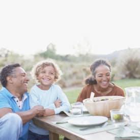 Family having a meal in Phoenix, AZ