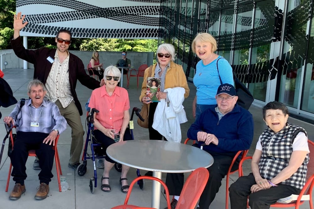 Residents enjoying time together on an outing in Seattle, WA