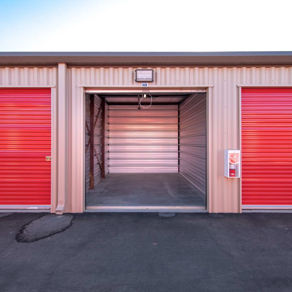 Outdoor storage units at StorQuest Express - Self Service Storage in Woodland, California