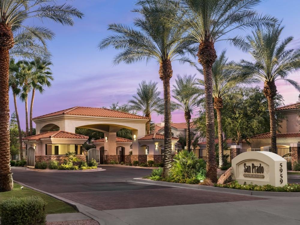 Entrance at San Prado in Glendale, Arizona