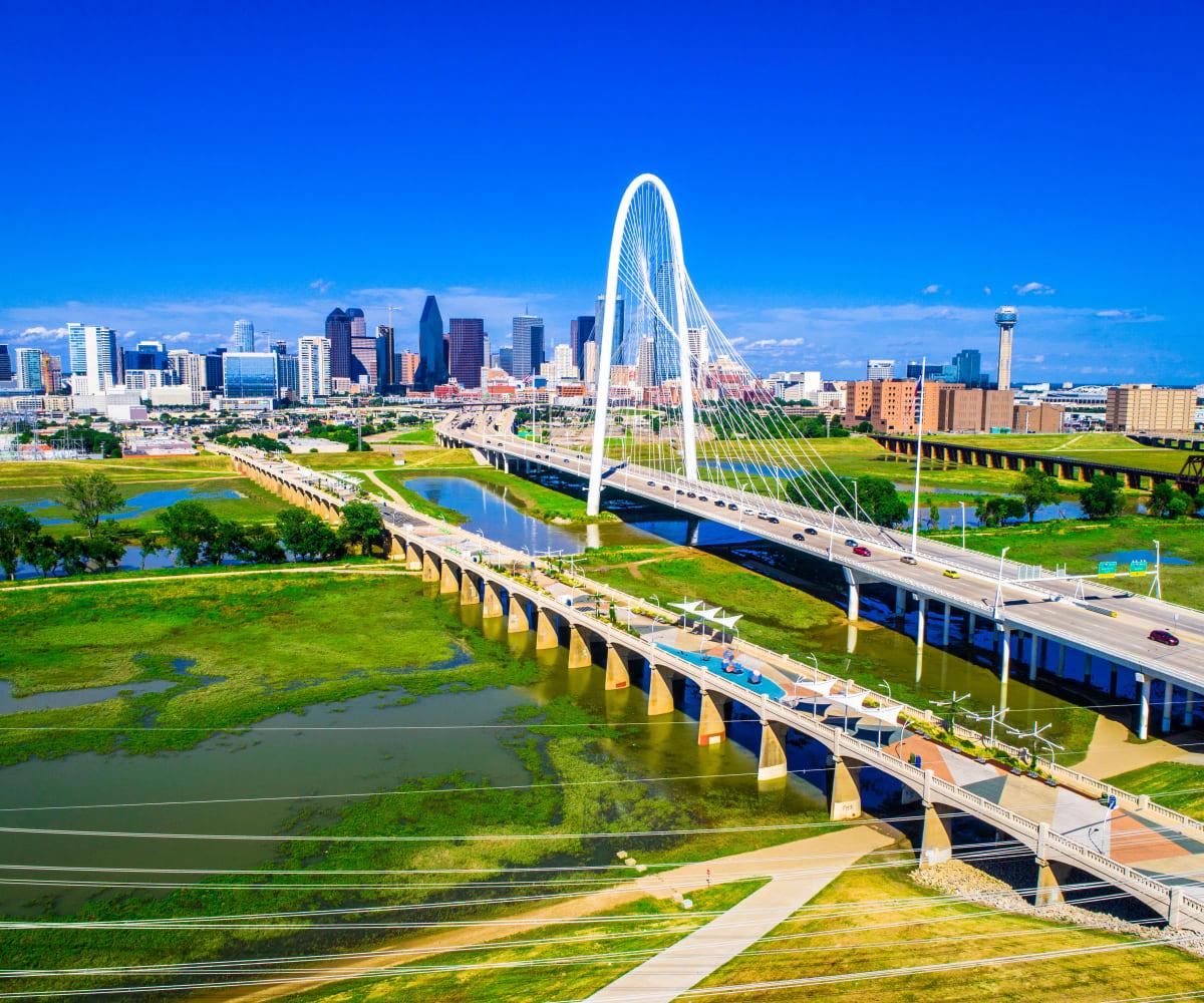 Trinity Groves Bridge in Dallas, Texas near Bellrock Bishop Arts
