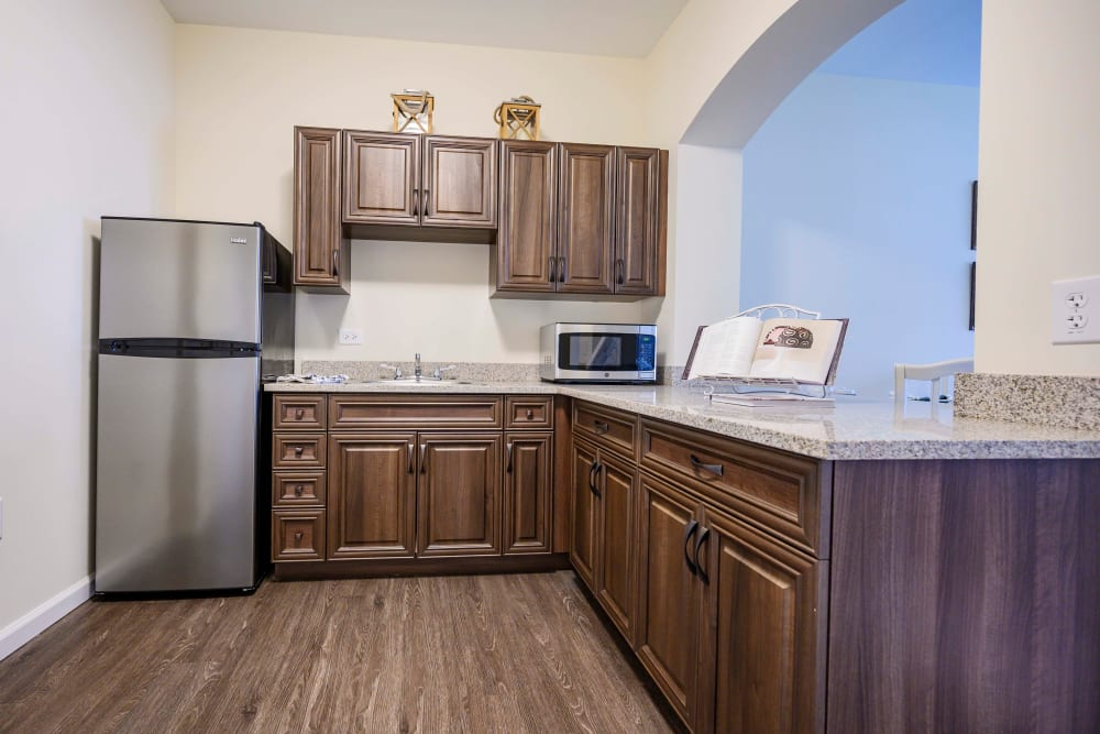 Apartment kitchen at Harmony at Brentwood in Brentwood, Tennessee