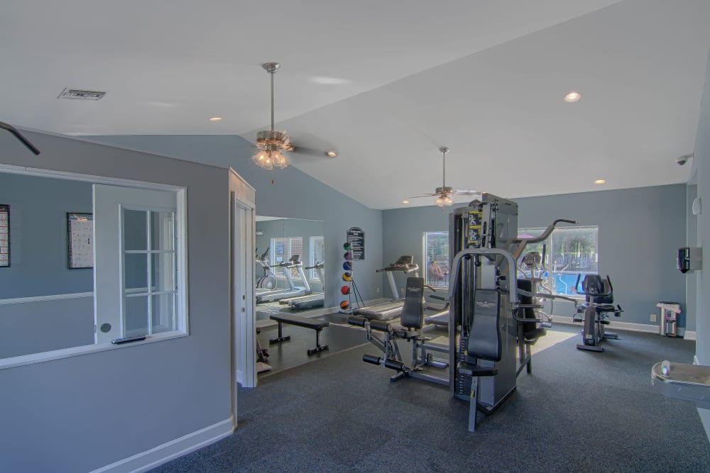 Resident gym at Lancaster Place in Calera, Alabama