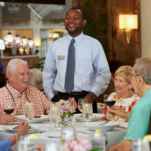 Resident dining  at Celebration Village in Acworth, Georgia