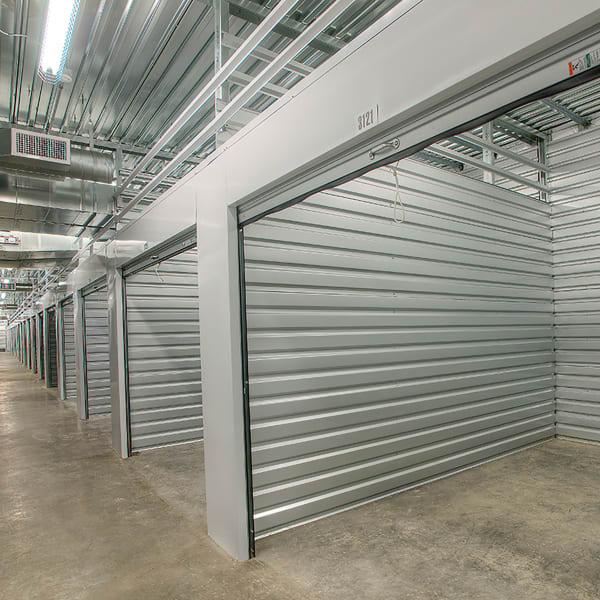 Open indoor units at StorQuest Self Storage in North Miami Beach, Florida