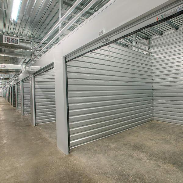 Open interior units at StorQuest Self Storage in Escondido, California