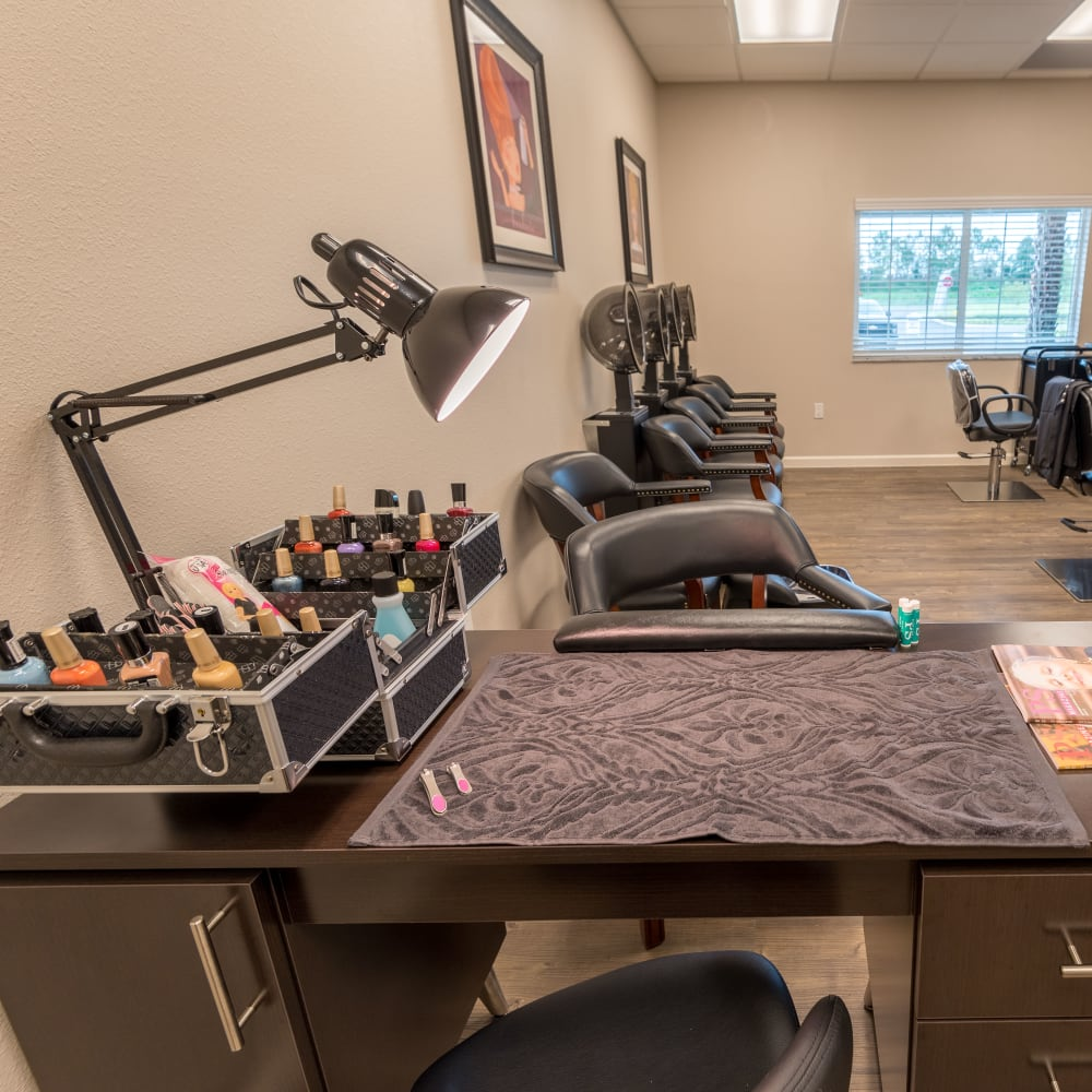 onsite salon at Inspired Living in Royal Palm Beach, Florida