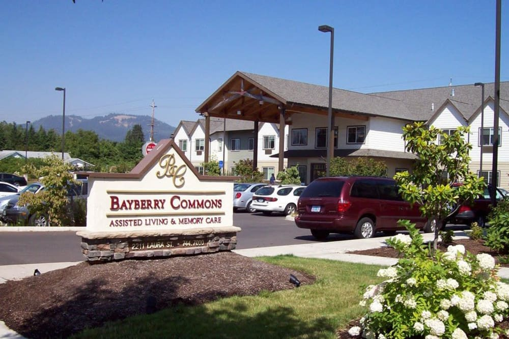 Main entrance at Bayberry Commons in Springfield, Oregon