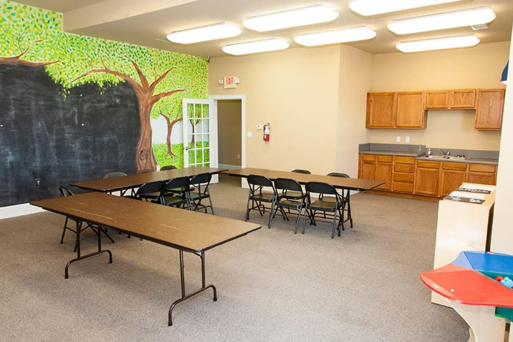 Activity room at O'Fallon Lakes in O'Fallon, Missouri