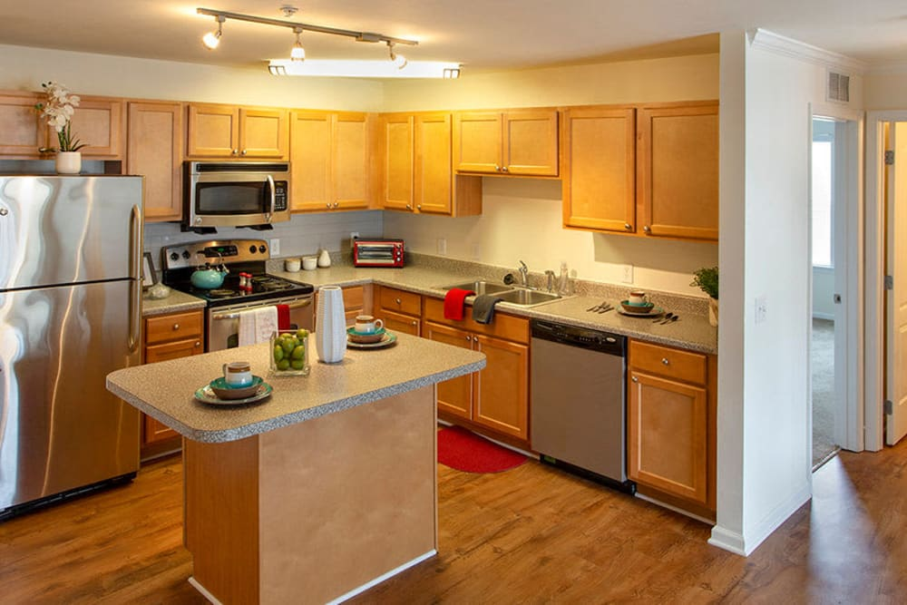 Bright spacious kitchen at Cannon Mills in Dover, Delaware