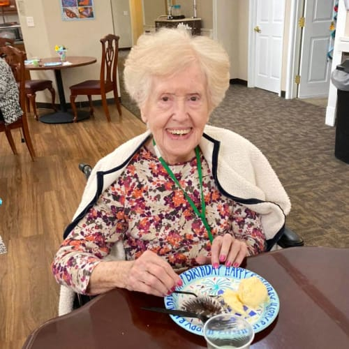 Happy resident at Canoe Brook Assisted Living in Broken Arrow, Oklahoma