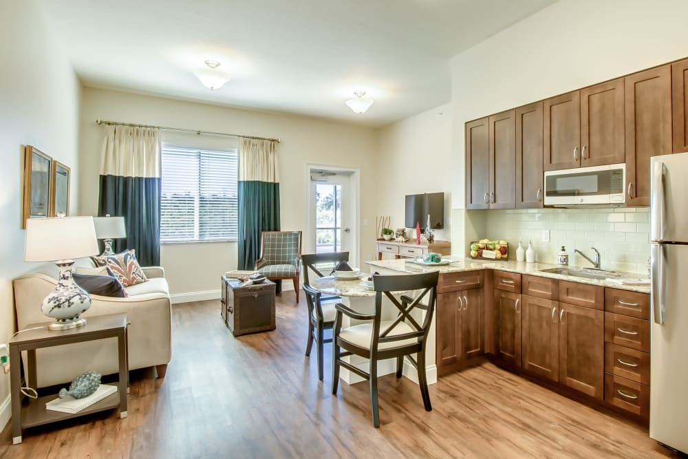 senior resident kitchen