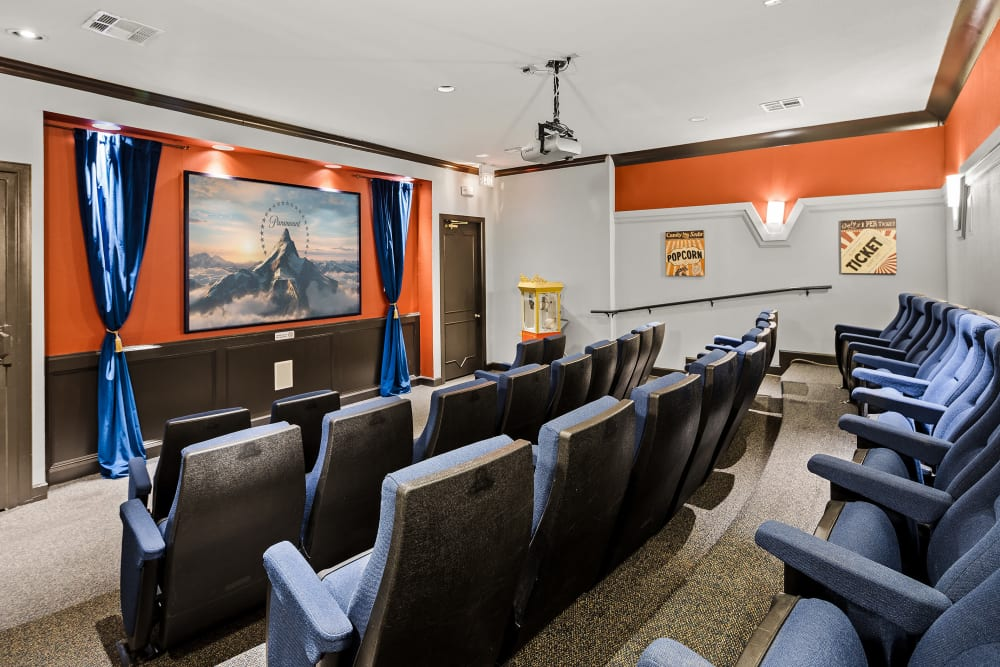Theatre Room at The Lodge at Shavano Park in San Antonio, Texas