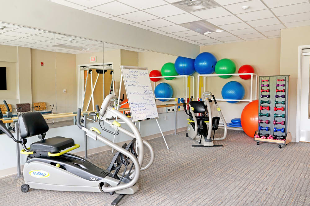 Fitness center at Harmony at White Oaks in Bridgeport, West Virginia