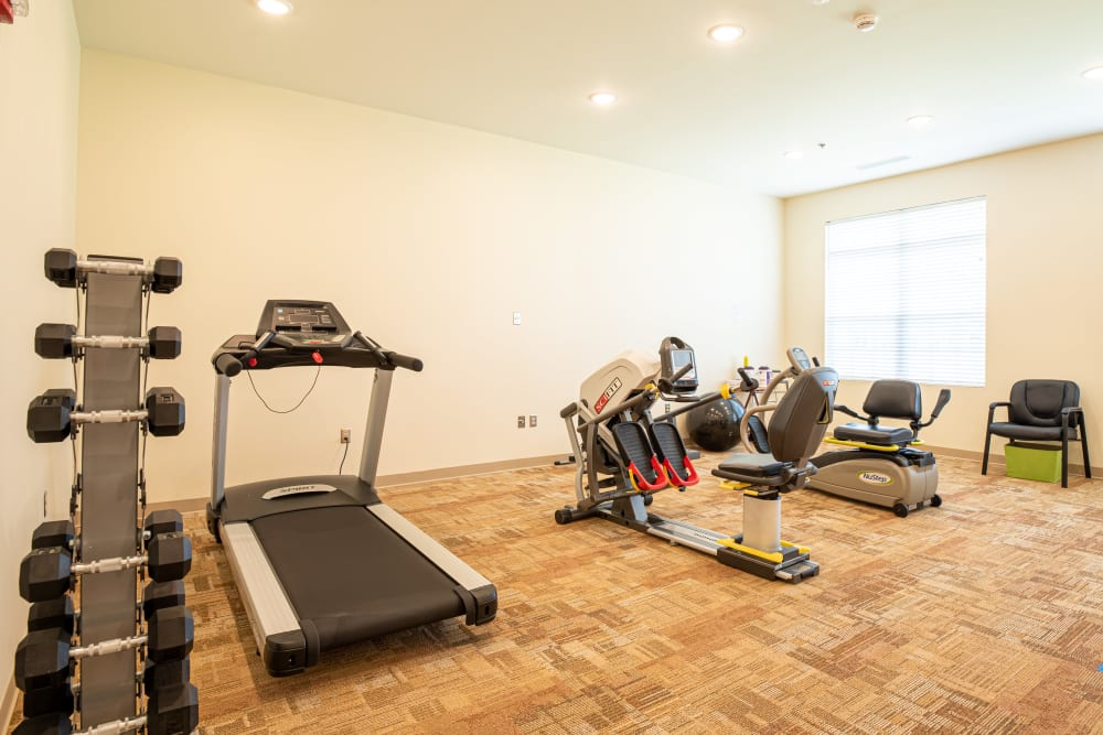 Fitness center at Harmony at Hope Mills in Fayetteville, North Carolina