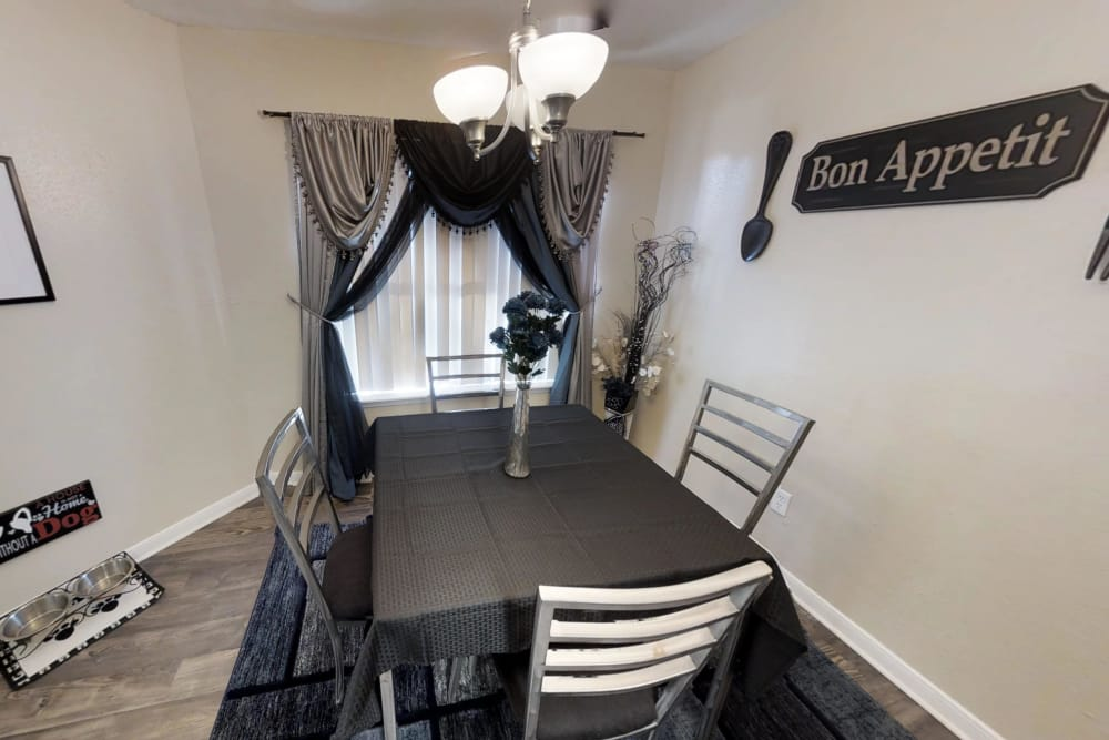 Our apartments in Houston, Texas have a cozy dining room
