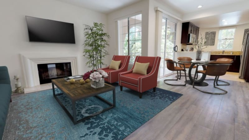 View a virtual tour of our two bedroom homes at L'Estancia in Studio City, California