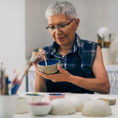 Artistic expression at Milestone Retirement Communities