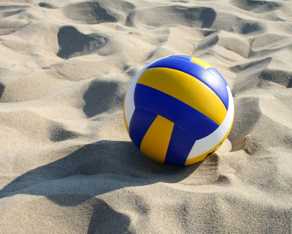 Sand volleyball court at St. Charles Square Apartments in Carol Stream, Illinois