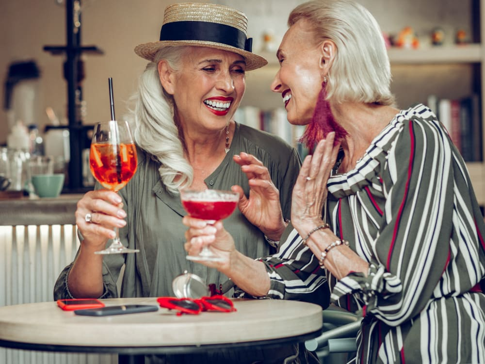 Residents out on the town having drinks together near San Portales in Scottsdale, Arizona