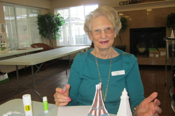 Art project at Bella Vista Gracious Retirement Living in Asheville, North Carolina